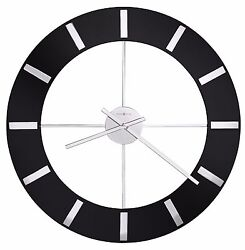 HOWARD MILLER -625-602  ONYX  625602 GALLERY STYLE CONTEMPORARY 30 WALL CLOCK