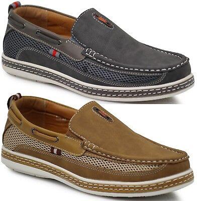 e9b3d1e89 New Men Brixton Boat Shoes Driving Moccasins Slip On Loafers Dacio09
