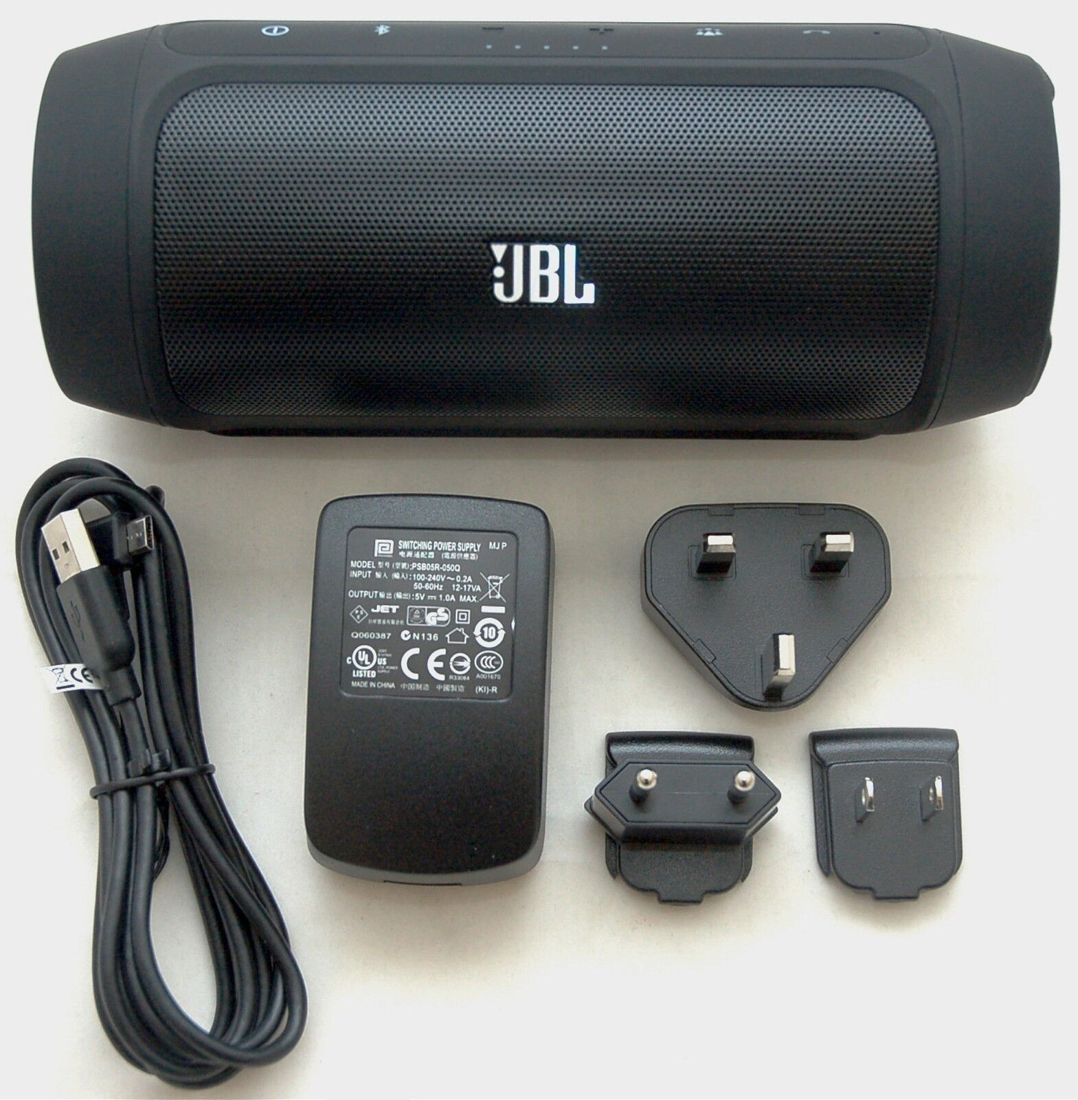 Portable Bluetooth Speaker Jbl Charge 2: JBL Charge 2 Black Portable Bluetooth Speaker Device Charger Passive Radiators 7353711933574