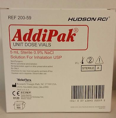 Addipak Sterile Saline Solution 0.9 5ml 100bx 200-59