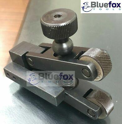 Knurling Tool V Clamp Type Holder 5-20mm Capacity For Mini Lathe Bluefox