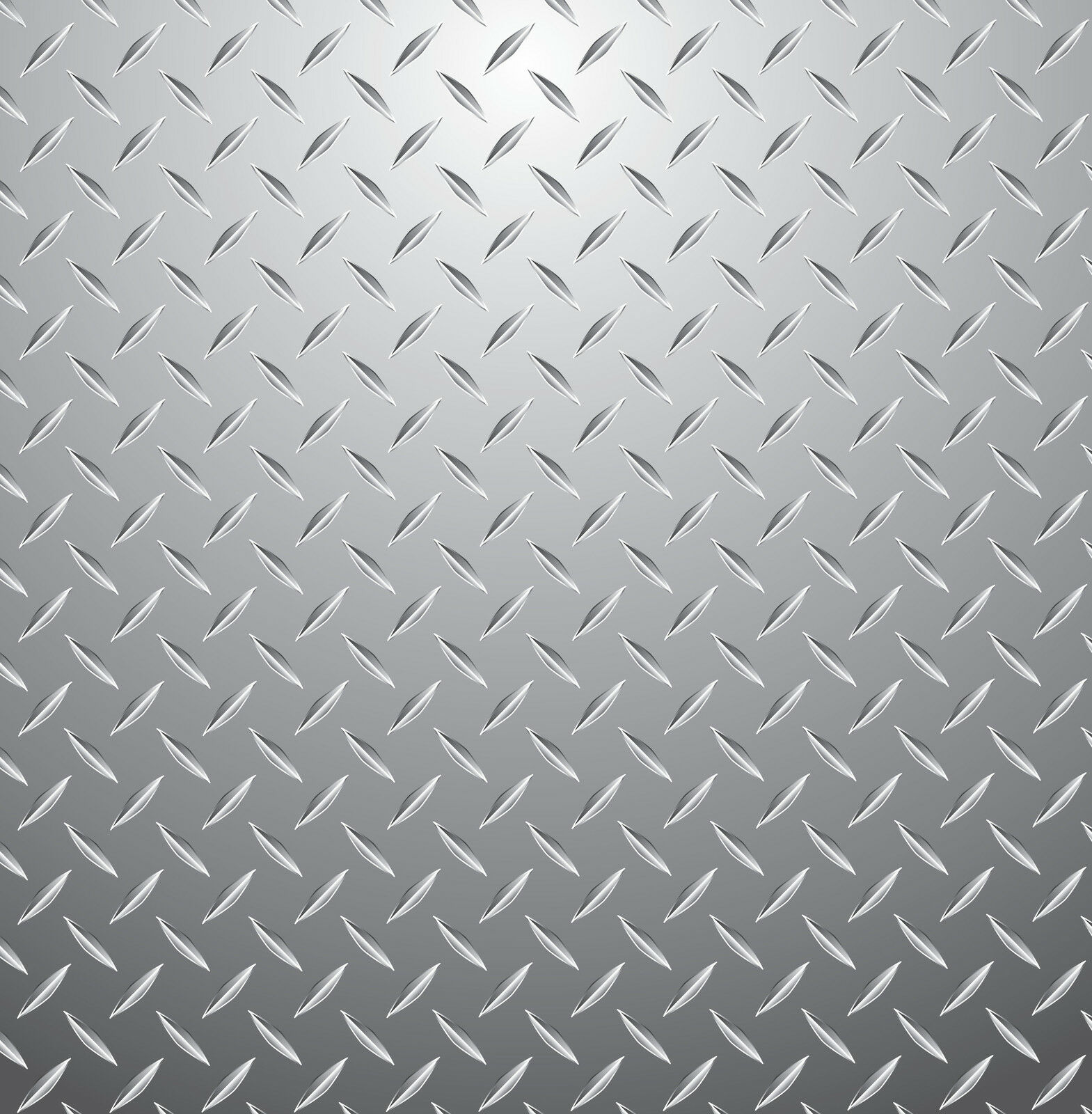 Checker Plate Silver Metallic Steel Criss Cross Childrens