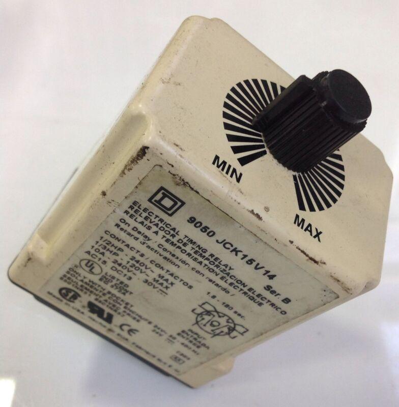 SQUARE D ELECTRICAL TIMING RELAY 9050 JCK15V14 SER B