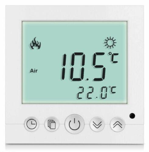 Digital Thermostat Raumthermostat Fußbodenheizung Wandheizung LED weiß      #a31