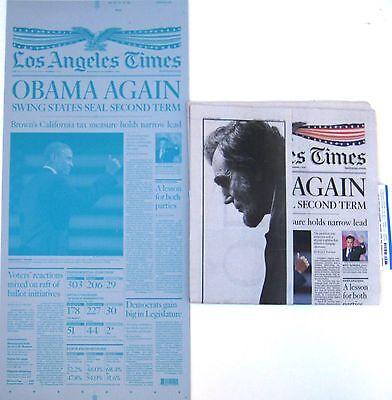Los Angeles La Times Newspaper Printing Plate Obama Again 11 07 12 11 07 2012