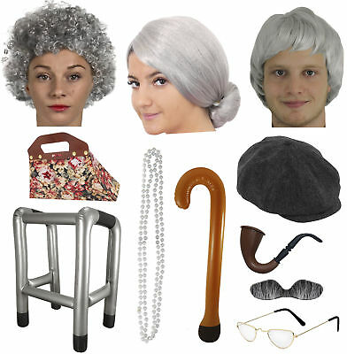 GRANNY GRANDAD FANCY DRESS OLD PERSON MAN WOMAN COSTUME ACCESSORIES HEN LOT](Old Person Costumes)