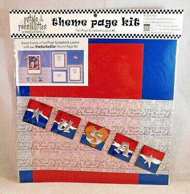 Scrapbook Page Layout Ideas - Patriotic Theme Page Kit Scrapbook Vellum Cardstock Layout Ideas Pressed Petals