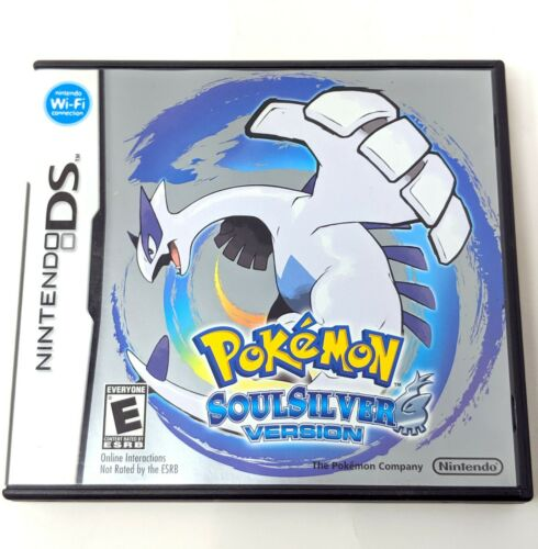 Pokemon Soulsilver Nintendo DS Authentic Game Case and Manual No Game