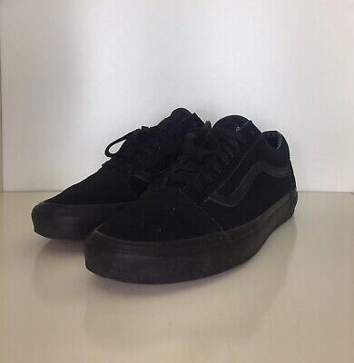 Vans Old Skool Low All Black Size 10.5 Mens Trainers Skate Sk8