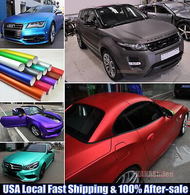 - Bubbles Free Car Satin Matte Metal Chrome Vinyl Wrap Sticker Stretchable - CFUS
