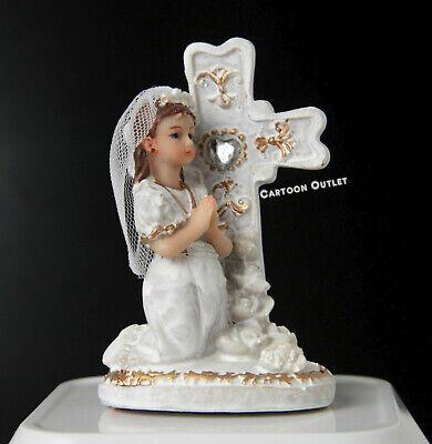 First Communion Cake (1 FIRST COMMUNION FAVOR GIRL  DECORATION PRIMERA COMUNION RESIN CAKE)