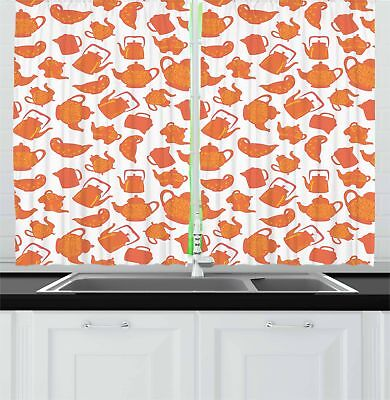 "Tea Kitchen Curtains 2 Panel Set Window Drapes 55"" X 39"" by"