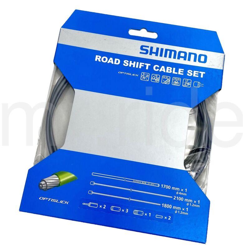 Shimano Optislick Road Bike Shift Cable and Housing Set Gray Y60198020