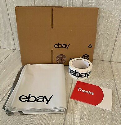 Ebay Branded Shipping Supplies Kit Boxes Poly Mailers Tape Postcards 35 Pieces