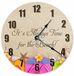 BEACH SANDALS CLOCK  - Large 10.5 Wall Clock - 2186