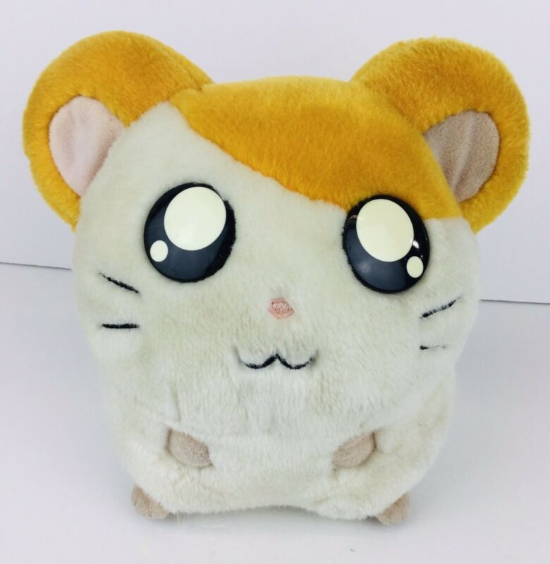 "Hamtaro HAM HAM Hasbro Plush 2002 Stuffed Animal 7"" Vintage Hamster Toy Plushy"