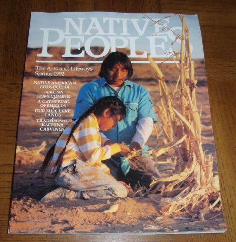 NATIVE PEOPLES MAGAZINE - THE ARTS AND LIFEWAYS SPRING 1992 - SHIELDS - KACHINAS