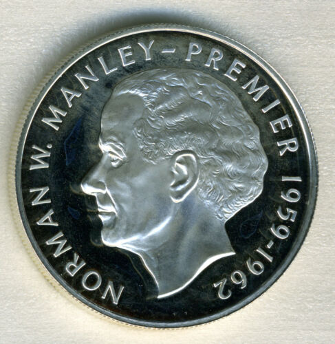 Jamaica - Silver 5 Dollar Coin - 1977 - Proof - Norman Manley