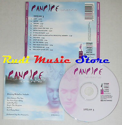 CD PANPIPE DREAMS DREAM 3 MCPS GFS03803 FLAUTO DI PAN lp mc dvd