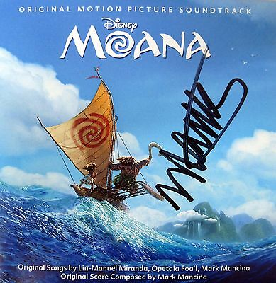 Moana Disney Cd Soundtrack Score Songs Lin Manuel Miranda   Mark Mancina Signed