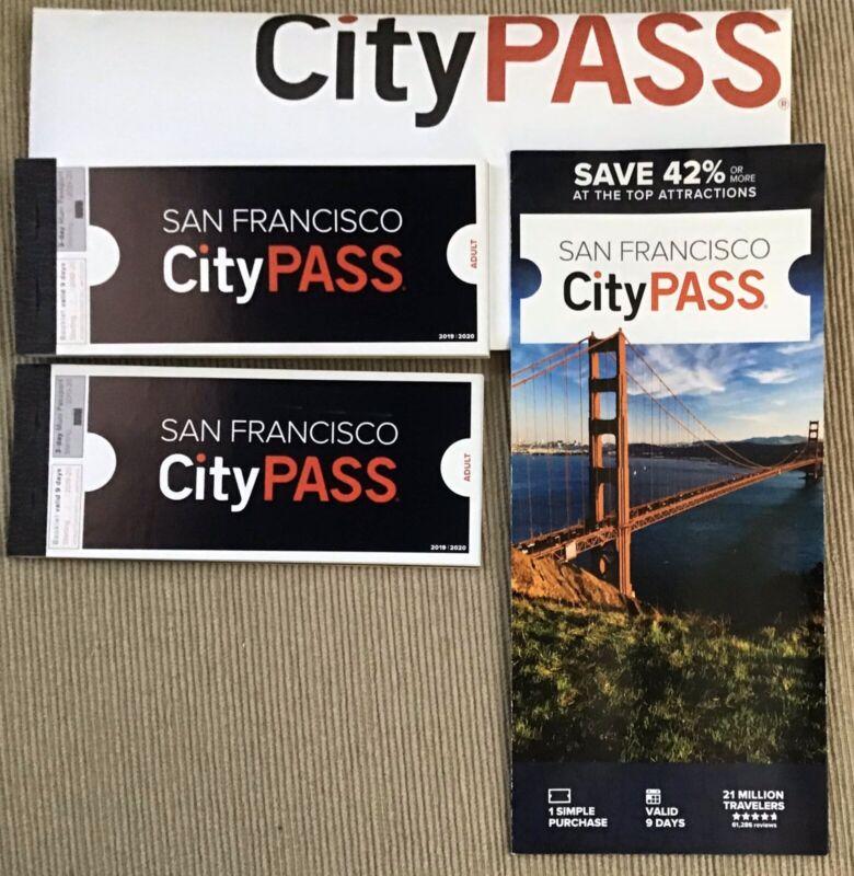 San Francisco CityPass!! 2 City Pass Books!