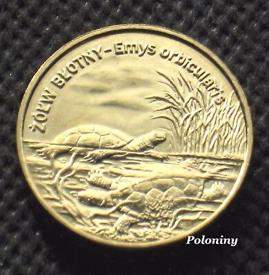COMMEMORATIVE COIN OF POLAND - ANIMALS OF THE WORLD TURTLE - ZOLW BLOTNY -