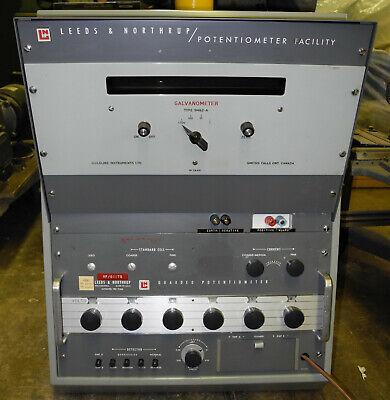 Leeds Northrup Potentiometer Facility Wgalvanometer 9492-a Guarded Pot 7546