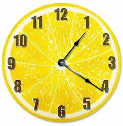 LEMON FRUIT CLOCK - Large 10.5 Wall Clock - 2189