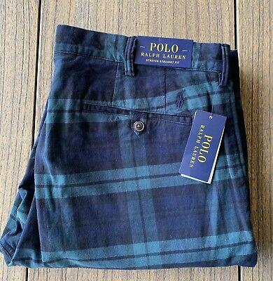 Polo Ralph Lauren Men's Stretch Straight Fit Plaid Chino Pants Sz 40x30 NWT