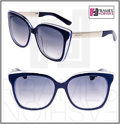 3558a4c6818 JIMMY CHOO Octavia Blue Pearl Gold Gradient Metal Square Sunglasses Octavia  S