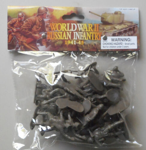 1:32 WWII Russian Infantry 1941-45 Weapons Plastic Toy Soldier Figures 20 In Bag
