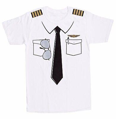 The Pilot Uniform T-Shirt, Fake Airline Pilot Tee, Funny Gag Gift, Luso (Fake Aviators)