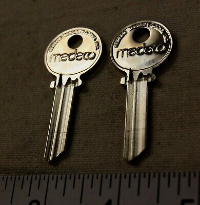Medeco Blank Uncut Round Headed Keys Uncut New Blanks Qty. 2 For 1 Price
