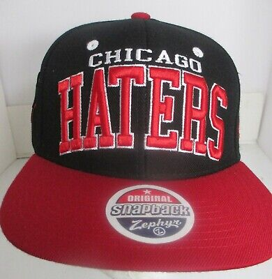 Chicago Haters Hat Cap Snapback Zephyr Brand Embroidery Wool Blend