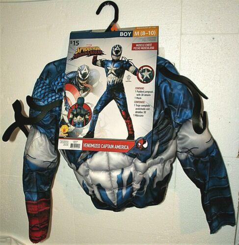 Marvel Comics Spider-Man Capt. America Venom Mash Up Kids Halloween Costume New