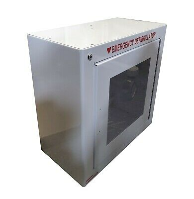 Zoll 8000-0855 Aed Plus Enclosure Wall Mounted Metal Cabinet Surface White