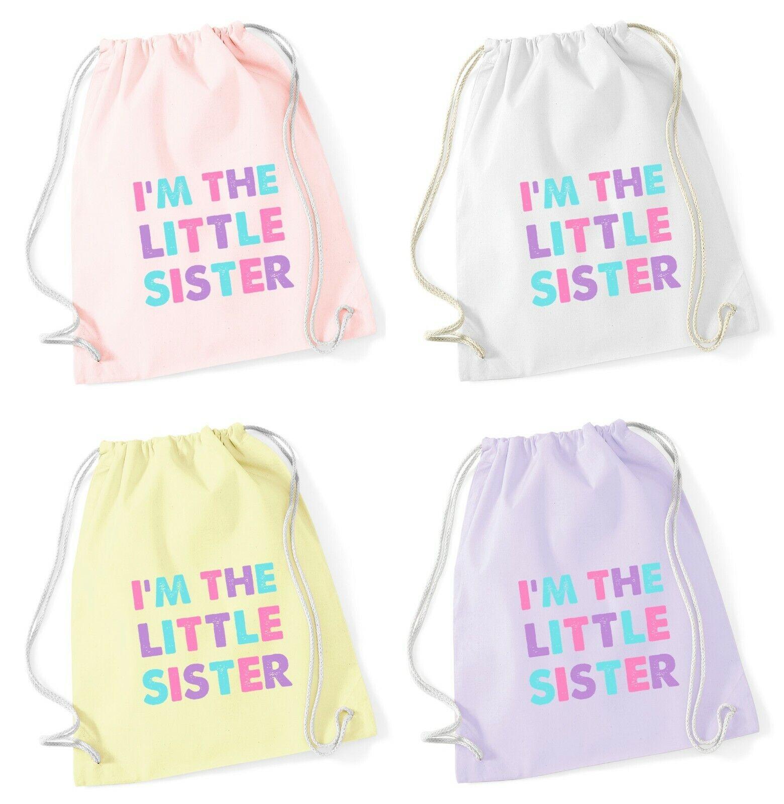 Pretty Printed Girls Pink School PE Kit Bag Gift Little Sister Elephant Gymsac