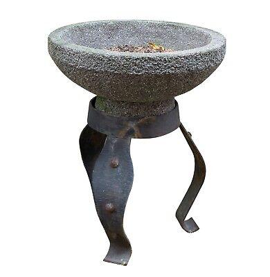 großer Blumenkübel m. geschmiedeten Eisen Gestell, Pflanzgefäß, Wasserbecken