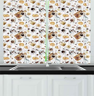"Kitchen Theme Kitchen Curtains 2 Panel Set Window Drapes 55"""