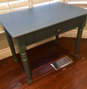 Small antique farm table or desk with drawer