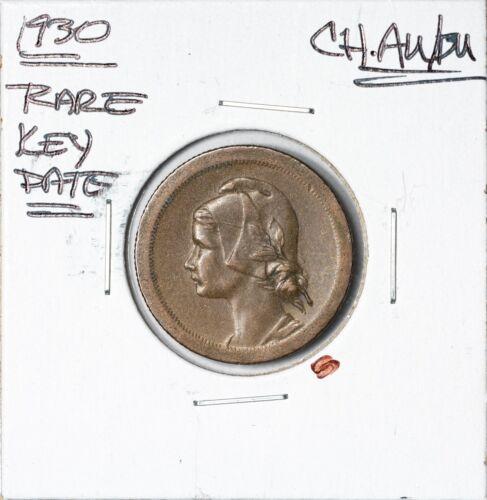 1930 Rare Key Date Portugal 10 Centavos Awesome Rainbow Choice AU/BU