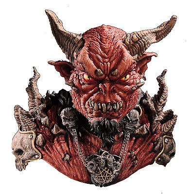 HALLOWEEN ADULT EL DIABLO DEVIL SHOULDERS  SKULL MASK PROP  - Diablo Halloween