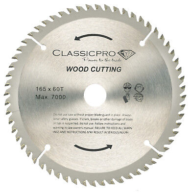 Classicpro Tct 165mm X 20mm16mm Bore 60t Circular Saw Blade For Wood Uk