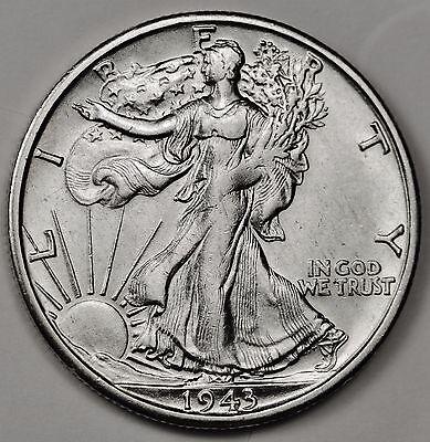 1943-s Walking Liberty Half.  B.U.  100453   (Inv.F)