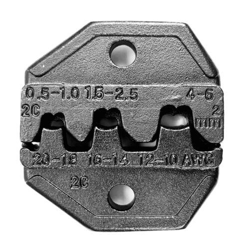 Crimp Tool Die 2C Non-insulated Open Barrel VDV200-010 AWG20-18 16-14 12-10