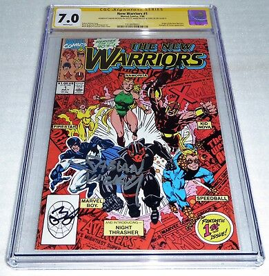 New Warriors #1 3x CGC SS Signature Autograph STAN LEE BAGLEY NICIEZA Origin POW