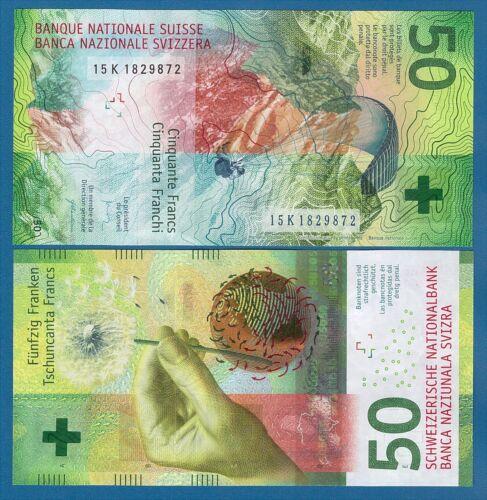 Switzerland 50 Franks P 77 2015 UNC Low Shipping! Combine FREE!