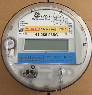 General Electric Ge - Watthour Meter Kwh Model Kv2cs 240 Volts 320a Fm2s