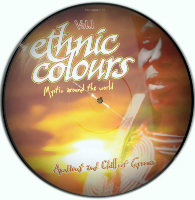 Picture Vinyl Ethnic Colours Mystic Around The World   Rare - Limited Edition