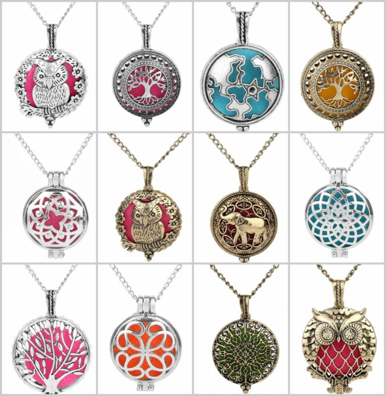 30 pieces essential aroma oil diffuser locket necklace wholesale bulk